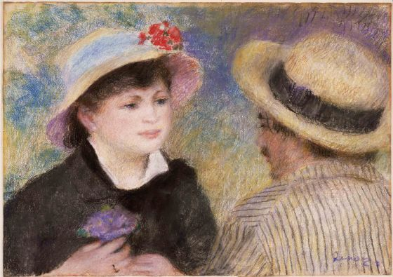 Renoir, Pierre Auguste: Boating Couple (said to be Aline Charigot and Renoir). Fine Art Print/Poster. Sizes: A4/A3/A2/A1 (004270)
